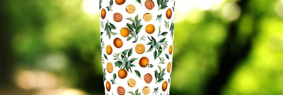 Citrus Oranges White 20oz Tumbler