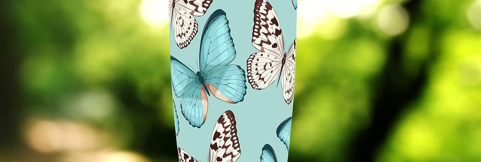 Turquoise Butterflies 20oz Tumbler