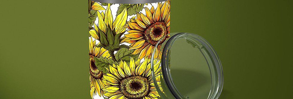 Big Sunflower 10oz Stainless Steel Tumbler