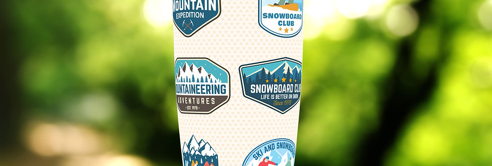 Ski Travel 20oz Tumbler