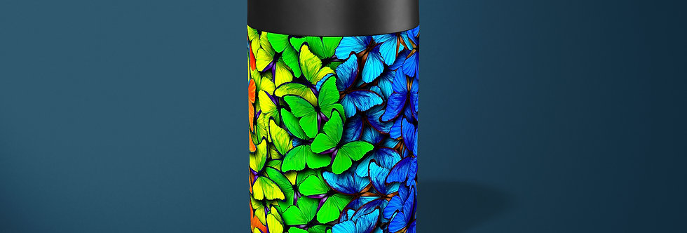 Rainbow Butterflies Beer Can Holder