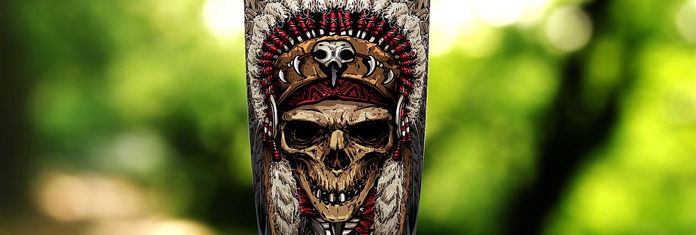 Indian Skull Bone Warrior 20oz Tumbler