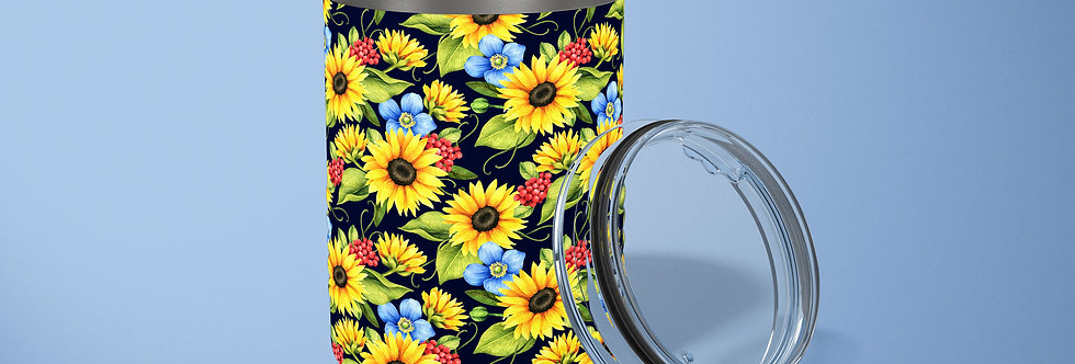 Sunflower Medley 10oz Stainless Steel Tumbler