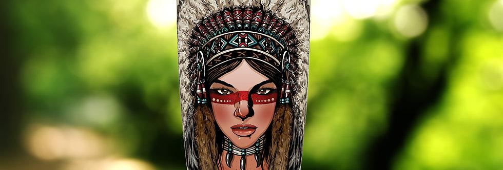 Navajo Indian Girl 20oz Tumbler