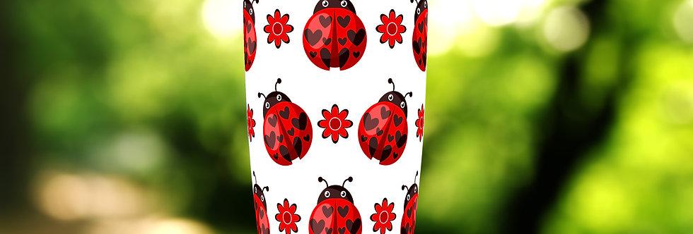 Red Ladybugs Floral 20oz Tumbler
