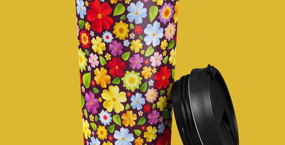 Flower Power 15oz Stainless Steel Tumbler
