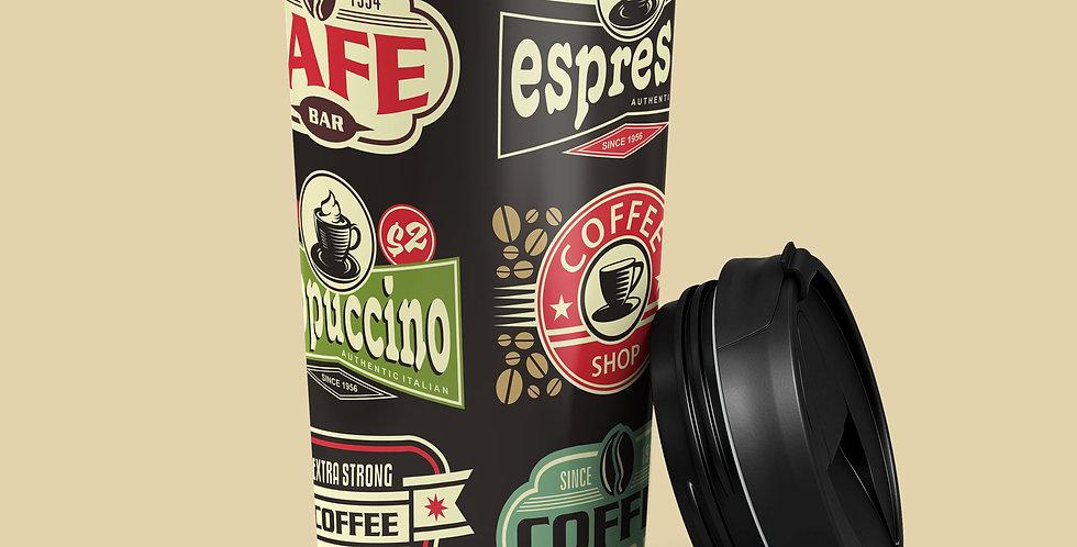 50's Coffee 15oz Stainless Steel Tumbler