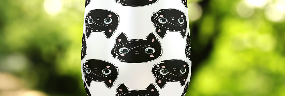 Black Cats 12oz Stainless Steel Tumbler