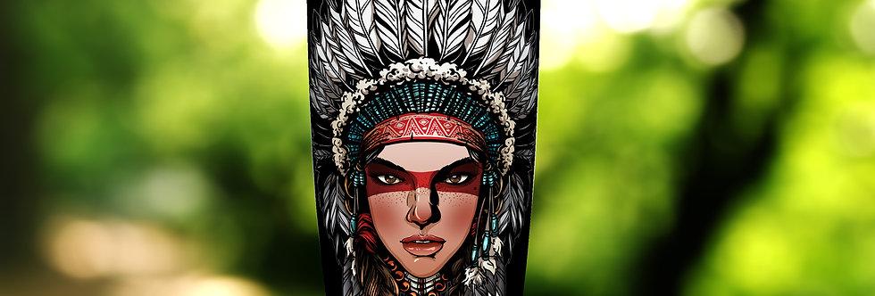 Native Indian Princess Warrior 20oz Tumbler
