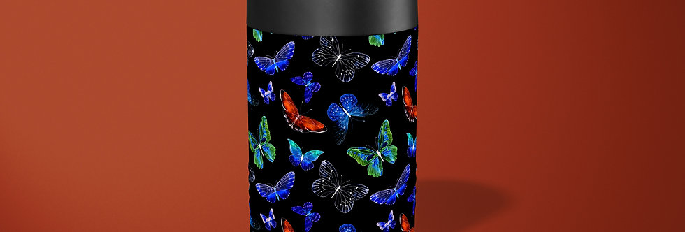 Night Butterflies Beer Can Holder