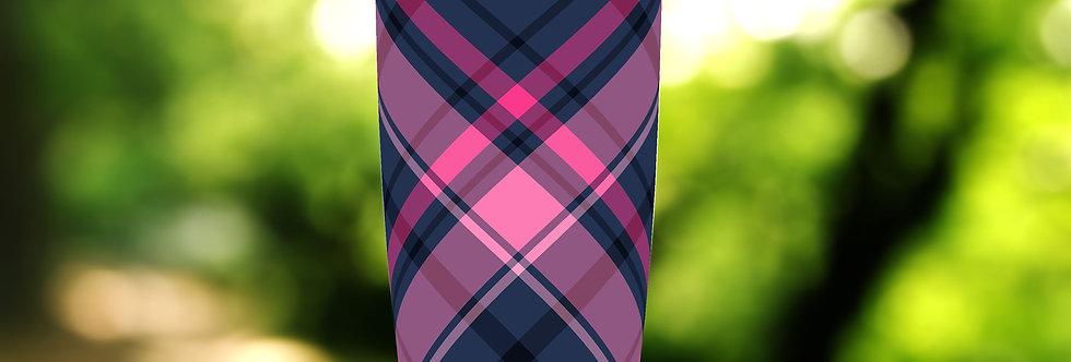 Black-Pink Plaid 20oz Tumbler
