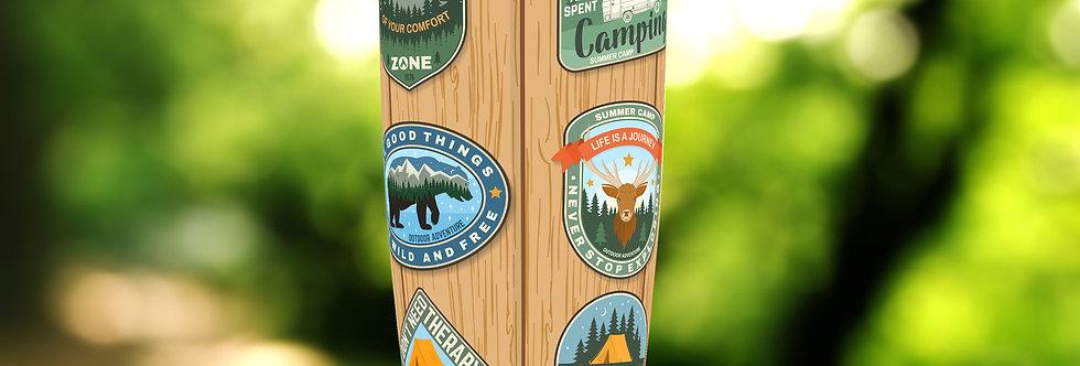 Camping Badges II 20oz Tumbler