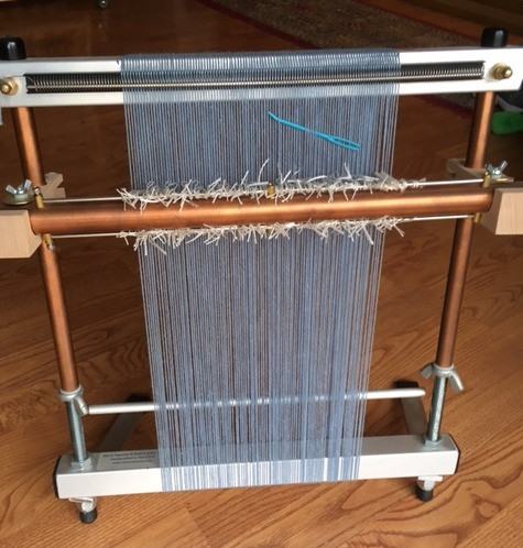 My mirrix loom warped and ready to go
