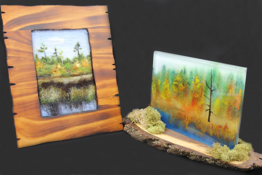 Seney in Felt and Glass, 2016-2017