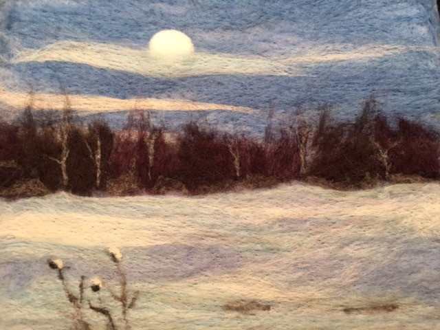 Winter Woods and a Full Moon, 2018