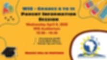 WIS Info Parent Session - April 8 - Chro