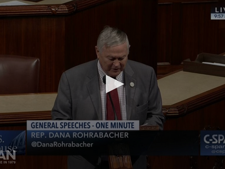 Congressman Dana Rohrabacher speaks on the persecution and disappearances of the Sindhi people in Pa