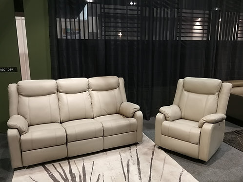 Genuine Leather Recliner Set 02