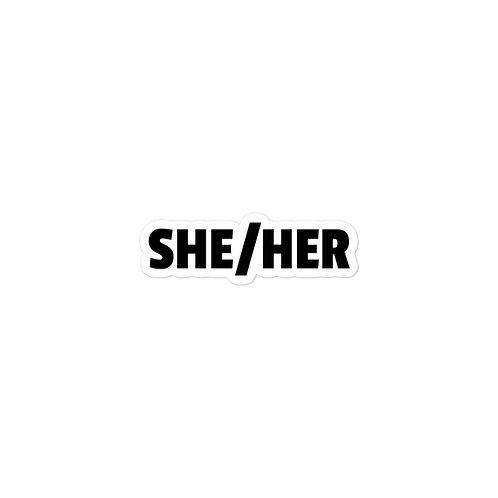 SHE/HER PRONOUN STICKER