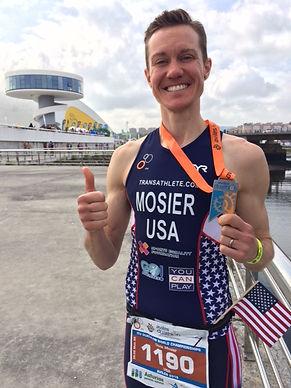 Transgender athlete Chris Mosier makes history at world championship