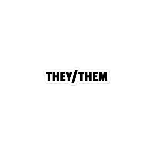 THEY/THEM PRONOUN STICKERS