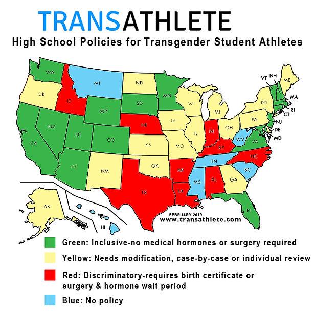 TRANSATHLETE High school transgender athlete policies