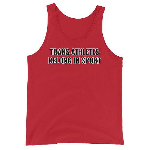 Trans Athletes Belong tank
