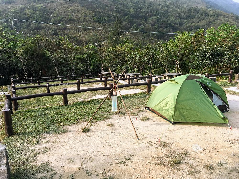 Ngong Ping Campsite at Lantau Peak