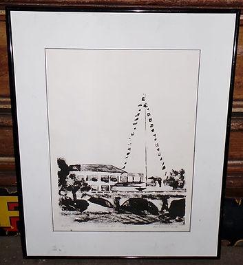 1994 Glasgon Print - Wichita Boat House