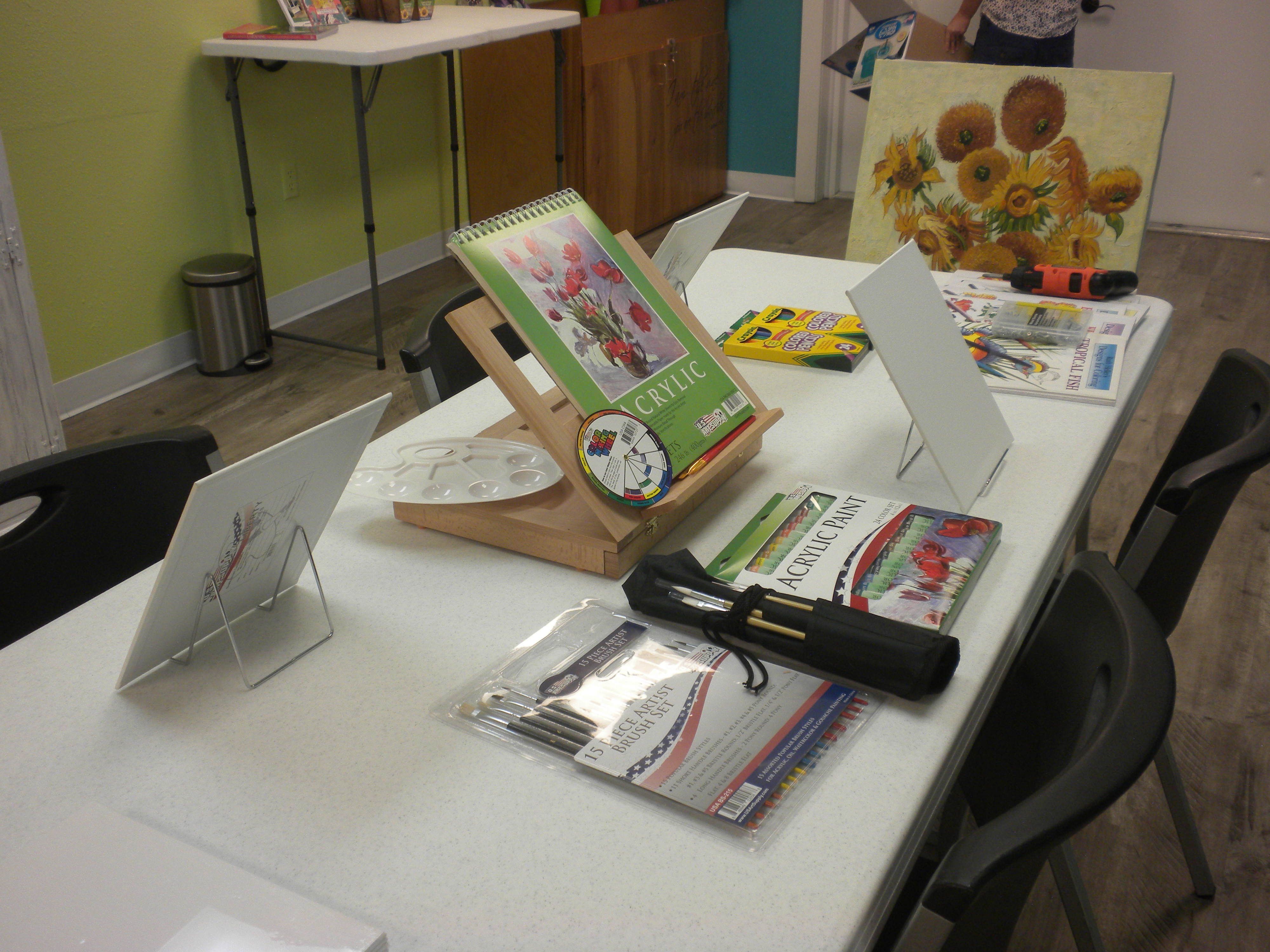Daycations adult day care art class