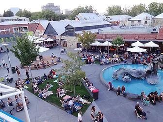 Salamanca Square in Hobart Tasmania Australia