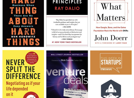 Resources for first-time CEO's and founders - 5 best business books in my library