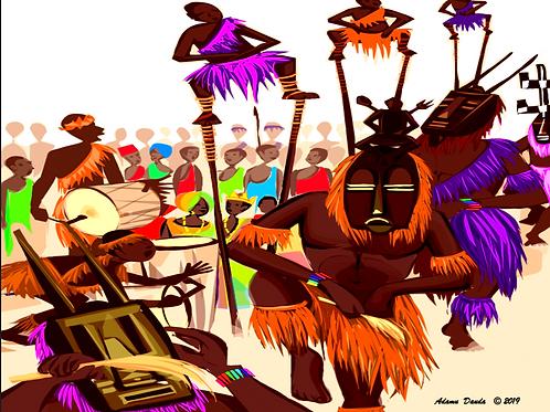 Dogan Dance: Jigsaw Puzzle