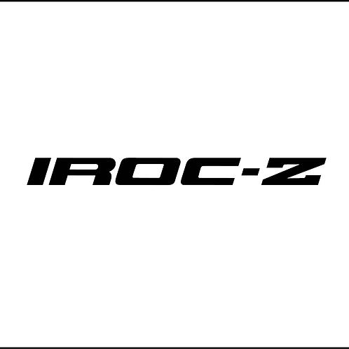 IROC-Z Decal
