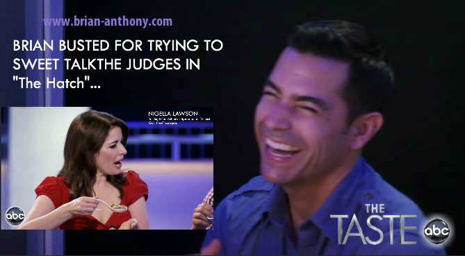Brian Anthony, Nigella Lawson, The Taste, 2013, Season 1, January, ABC, Cooking, Reality Show, Cooking Competition
