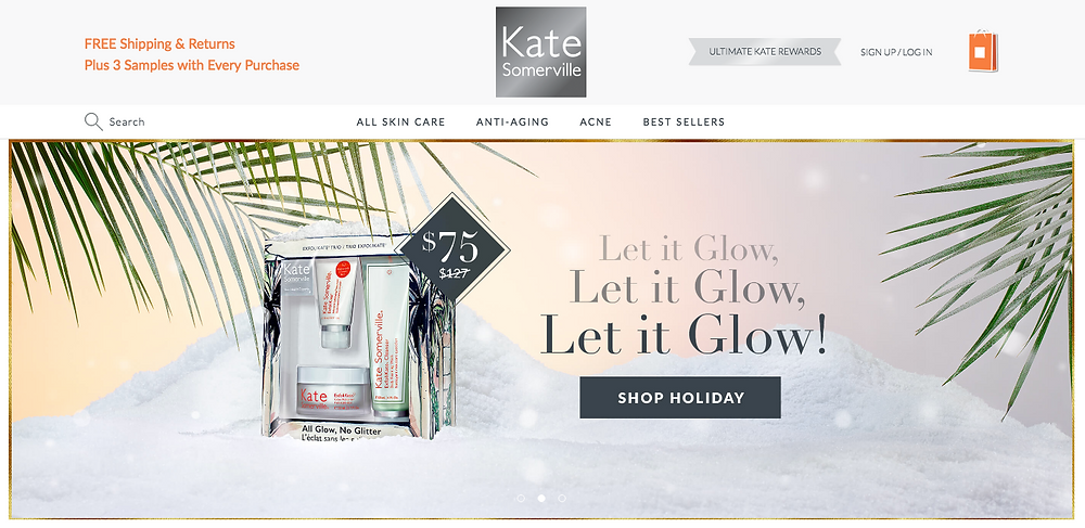 Katesomerville.com HOLIDAY CAMPAIGN Pg 1