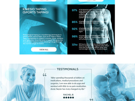 Branding + Website Design Progress for my new Arizona Myotherapy Client, Annie Naylor
