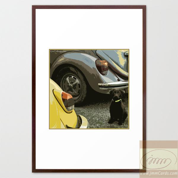 Air-Cooled Buddies Framed Art Print
