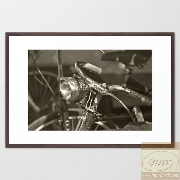 Old Bicycle - Framed Art Print