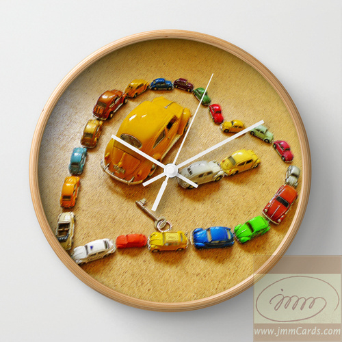 Love Bug Heart - Wall Clock