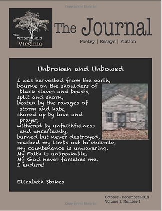 The Journal of the Writers Guild of Virginia - October 2016