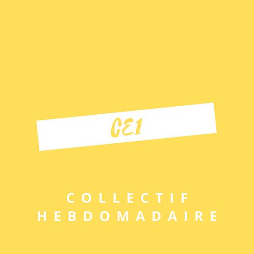 Forfait hebdomadaire Collectif CE1 - Quotidien