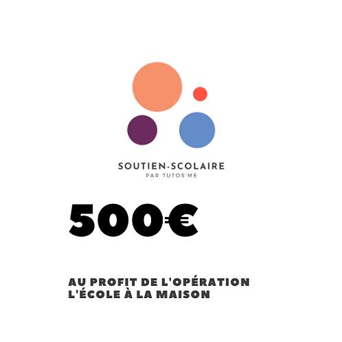 """Don de 500€ au profit de l'action """"L'école à la maison"""""""