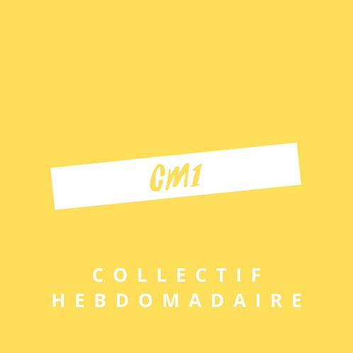 Forfait hebdomadaire Collectif CM1 - Quotidien
