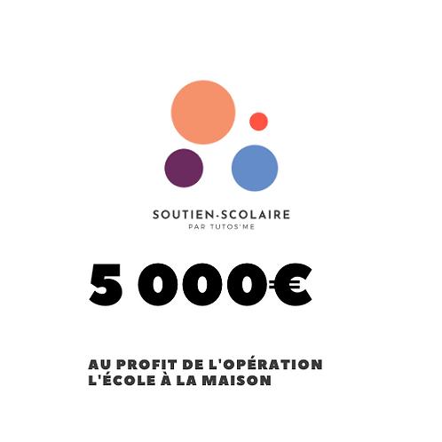 """Don de 5000€ au profit de l'action """"L'école à la maison"""""""