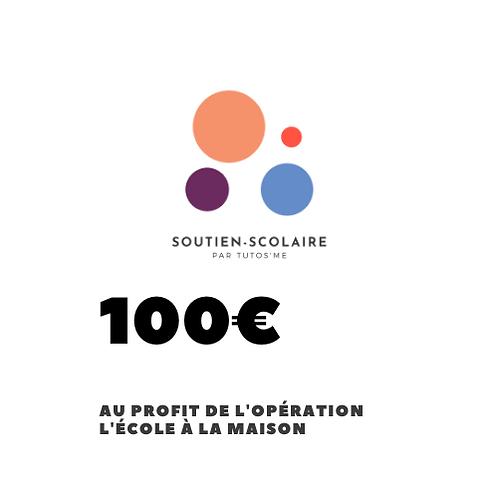"""Don de 100€ au profit de l'action """"L'école à la maison"""""""