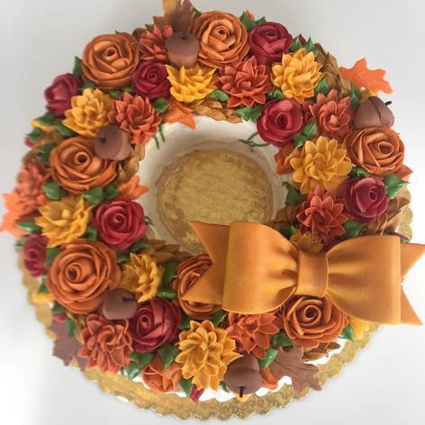 Autumn Wreath Cake