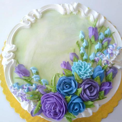 Deep Elegance Palette - Floral Spray Design