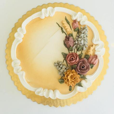 Vintage Harvest Palette - Floral Spray Design