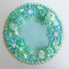 Aqua - Floral Ring Design